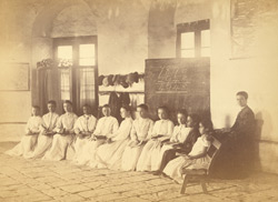 Group portrait of female pupils in the European and Indo-European School, Karachi